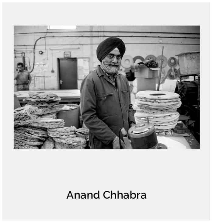 From the series 'Punjabi Workers' : Tarsem Singh Sembhi , Wolverhampton c1992.