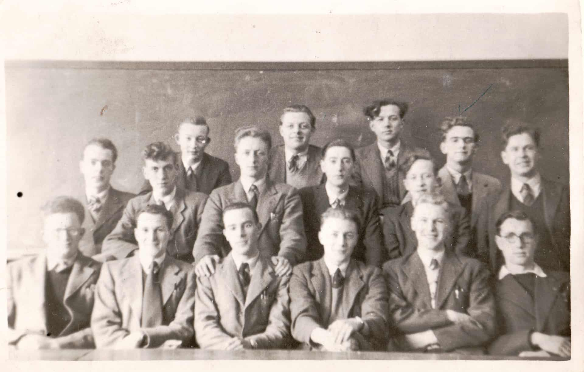George at college: second from right on the back row.