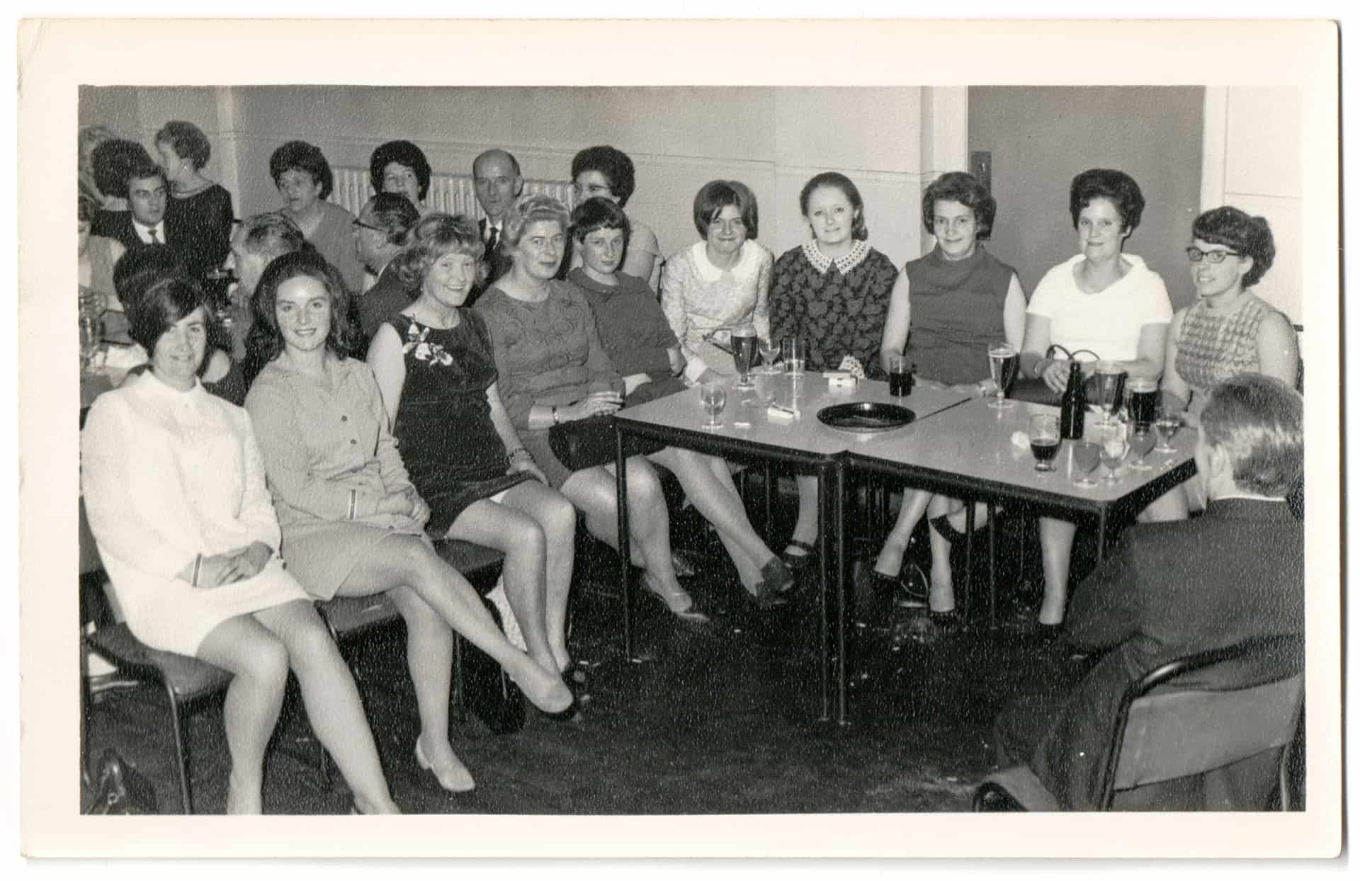 A works do, probably at Billinghams in Cradley Heath.