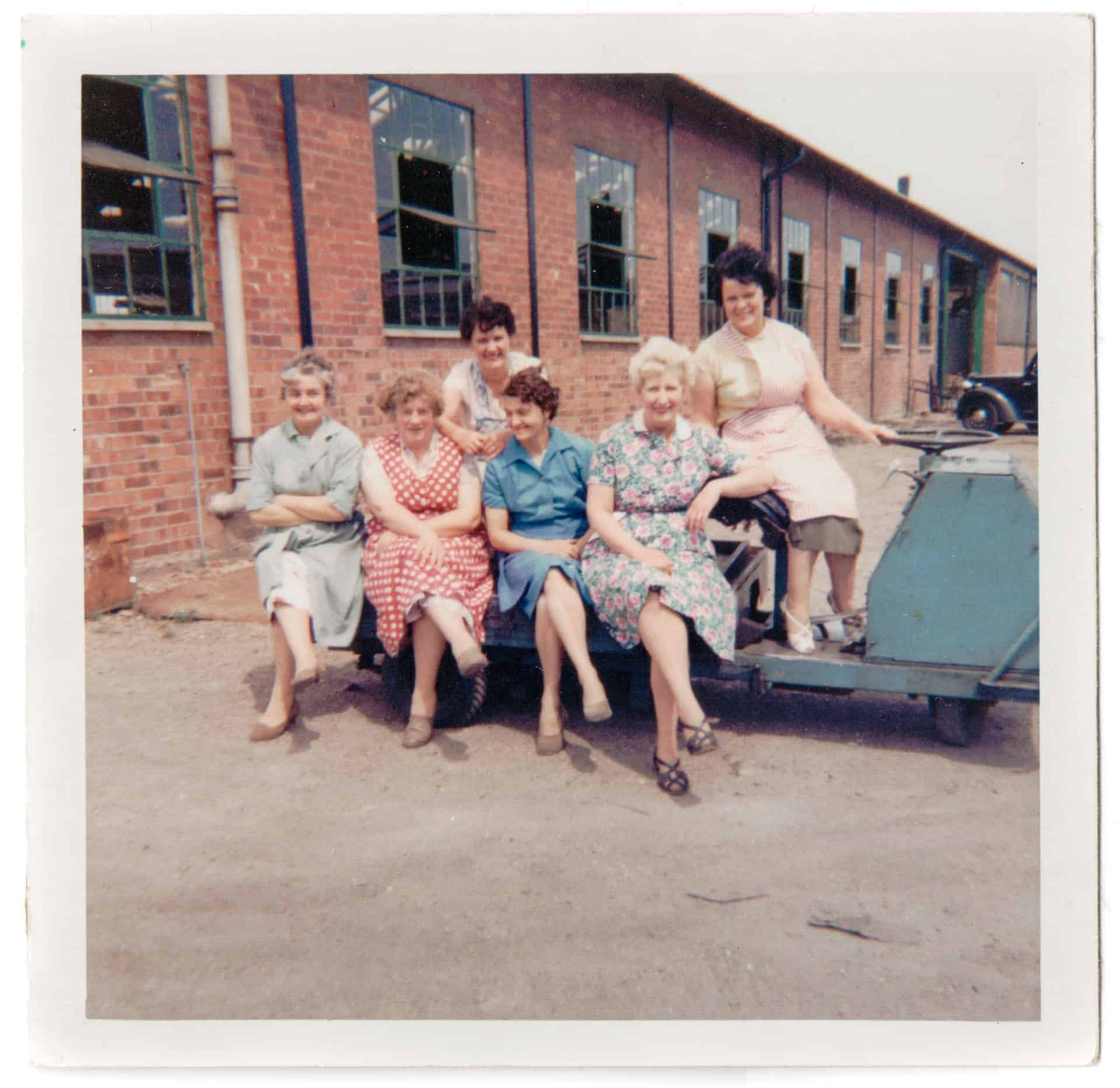 Aunt Gladys with work colleagues at Billinghams in the 1960s