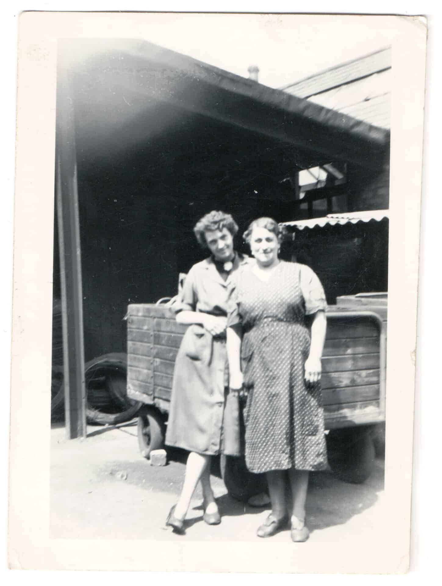 Aunt Gladys (left) at Billingham's, Cradley Heath.
