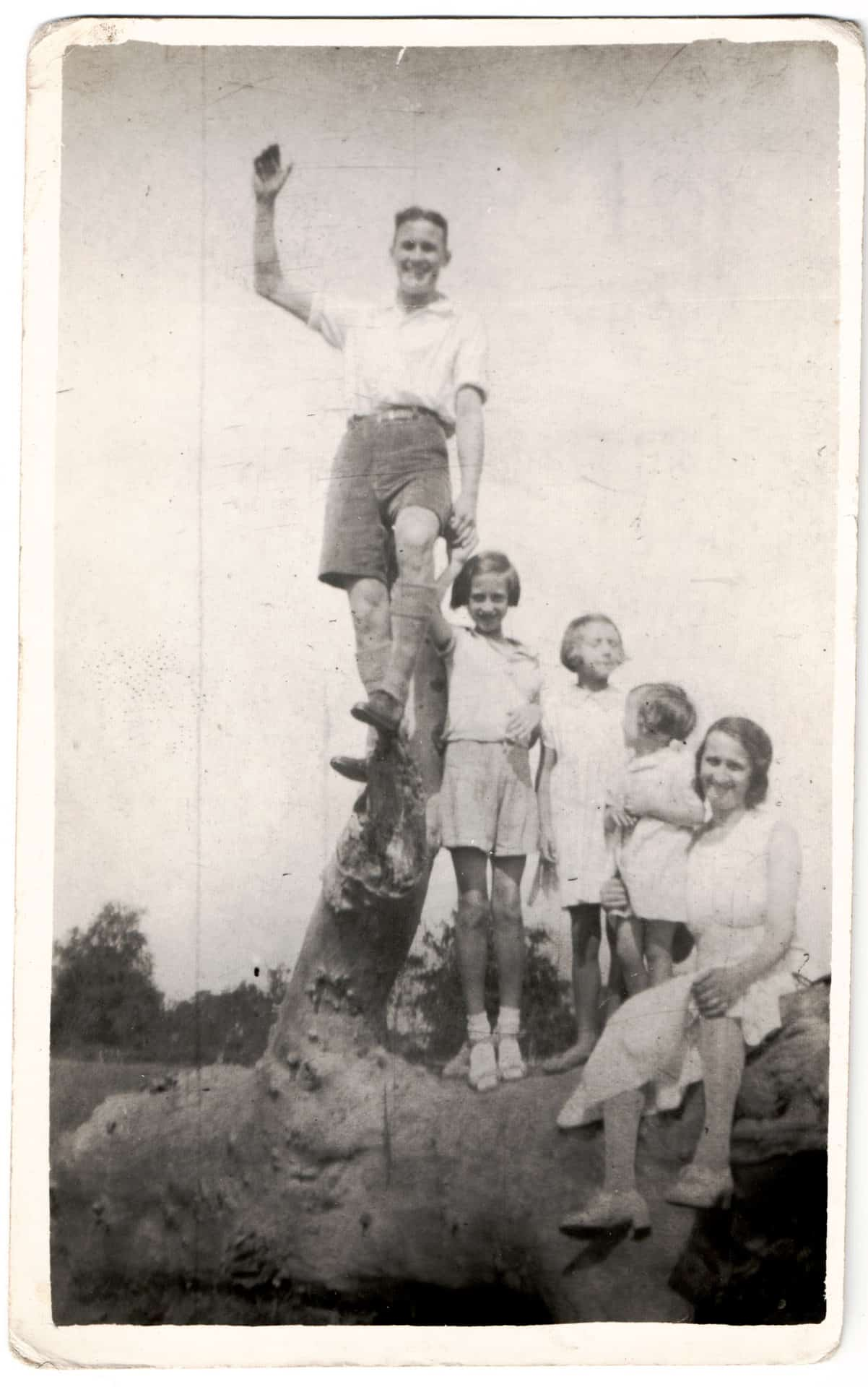 Dad with his sister and her children. Circa 1935/6