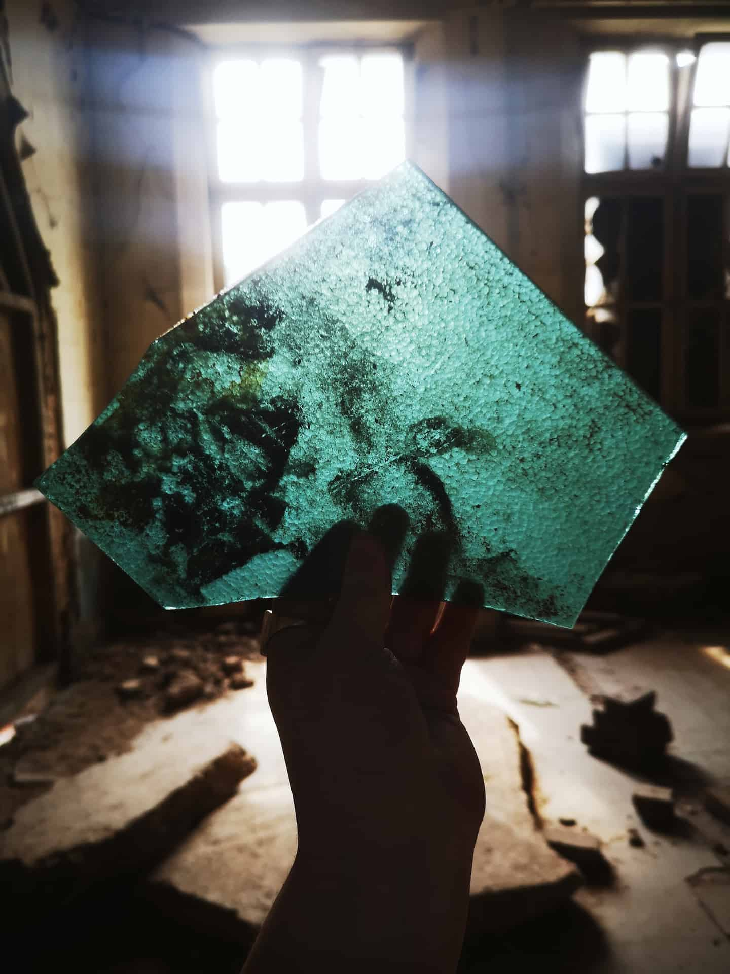 Fragmented glass found at Chance glass Heritage site, Smethwick.