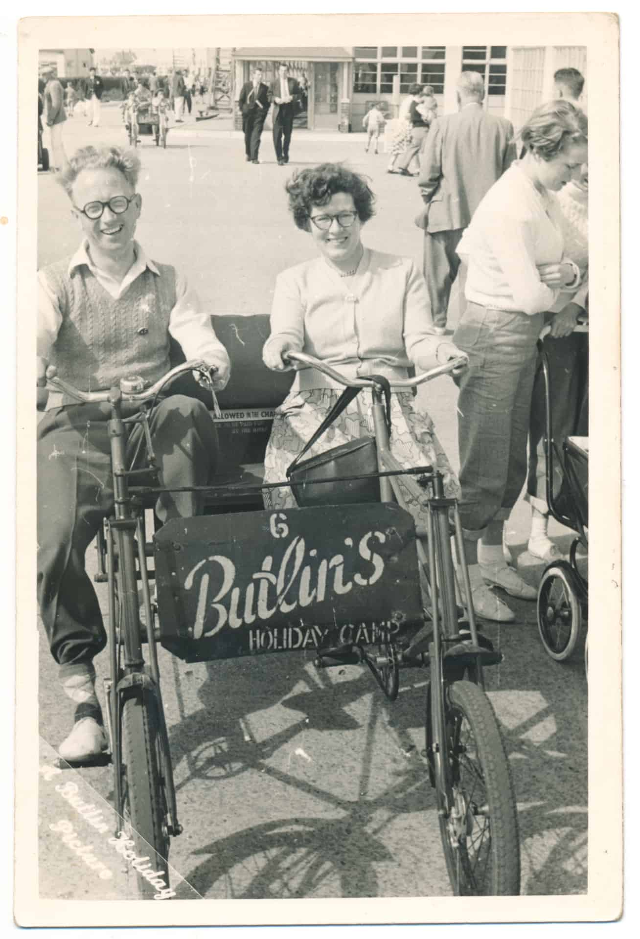 Elsi Jones and Harry Jones during their holiday in Pontins. Photo from Warren Seymour's family album