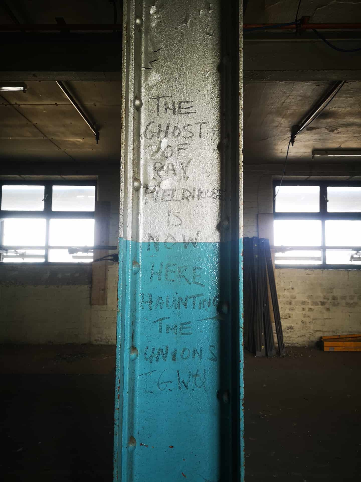 The ghost of Ray Fieldhouse is now here and haunting the unions, T.G.W.Q' Found at CGHS, Smethwick