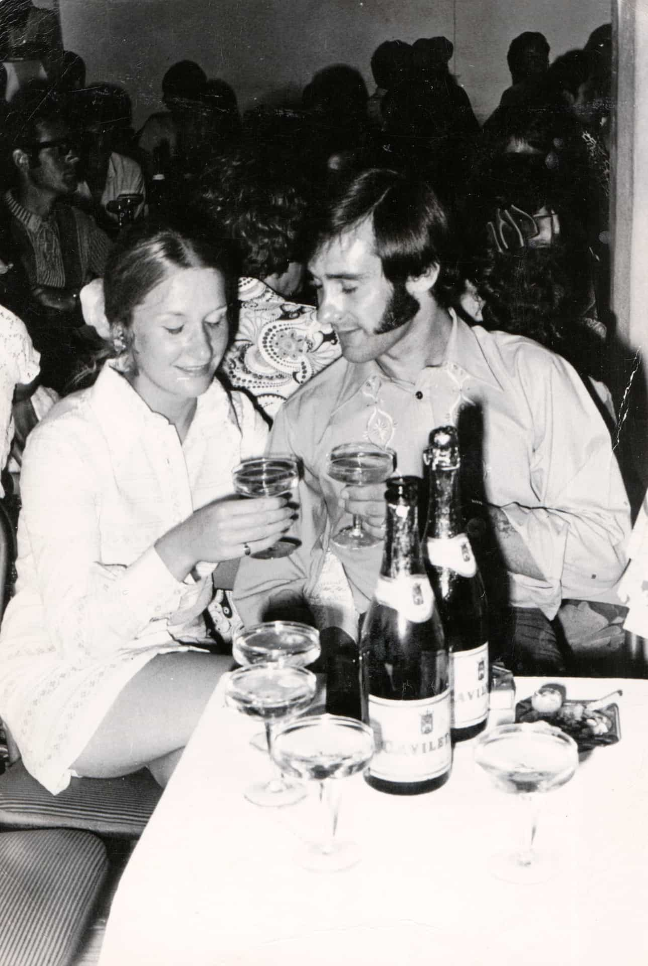 Mum and dad in Ibiza in 1971, a year before they got married in 1972.