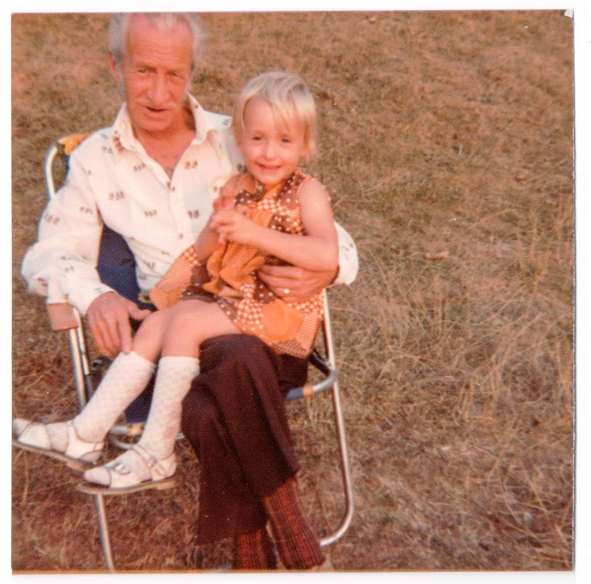 Grandad and me taken at Welshpool on our holidays.