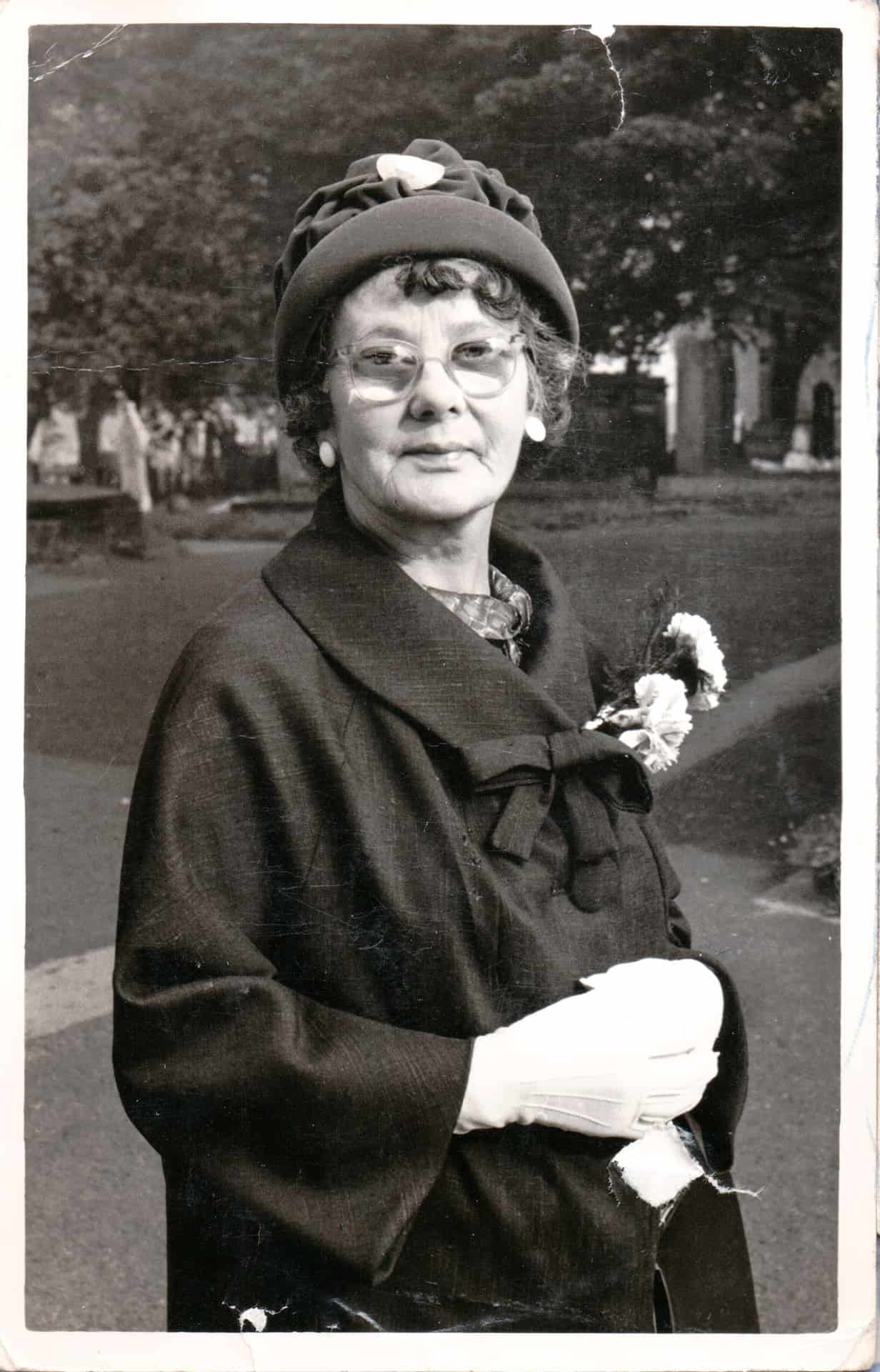 I met my nan, but I was a baby. don't remember meeting her because she passed away when I was one. I don't think I was even one. I was one in the March and she died the Boxing Day before that. She was a dressmaker helping her brother George and her sister Mary.