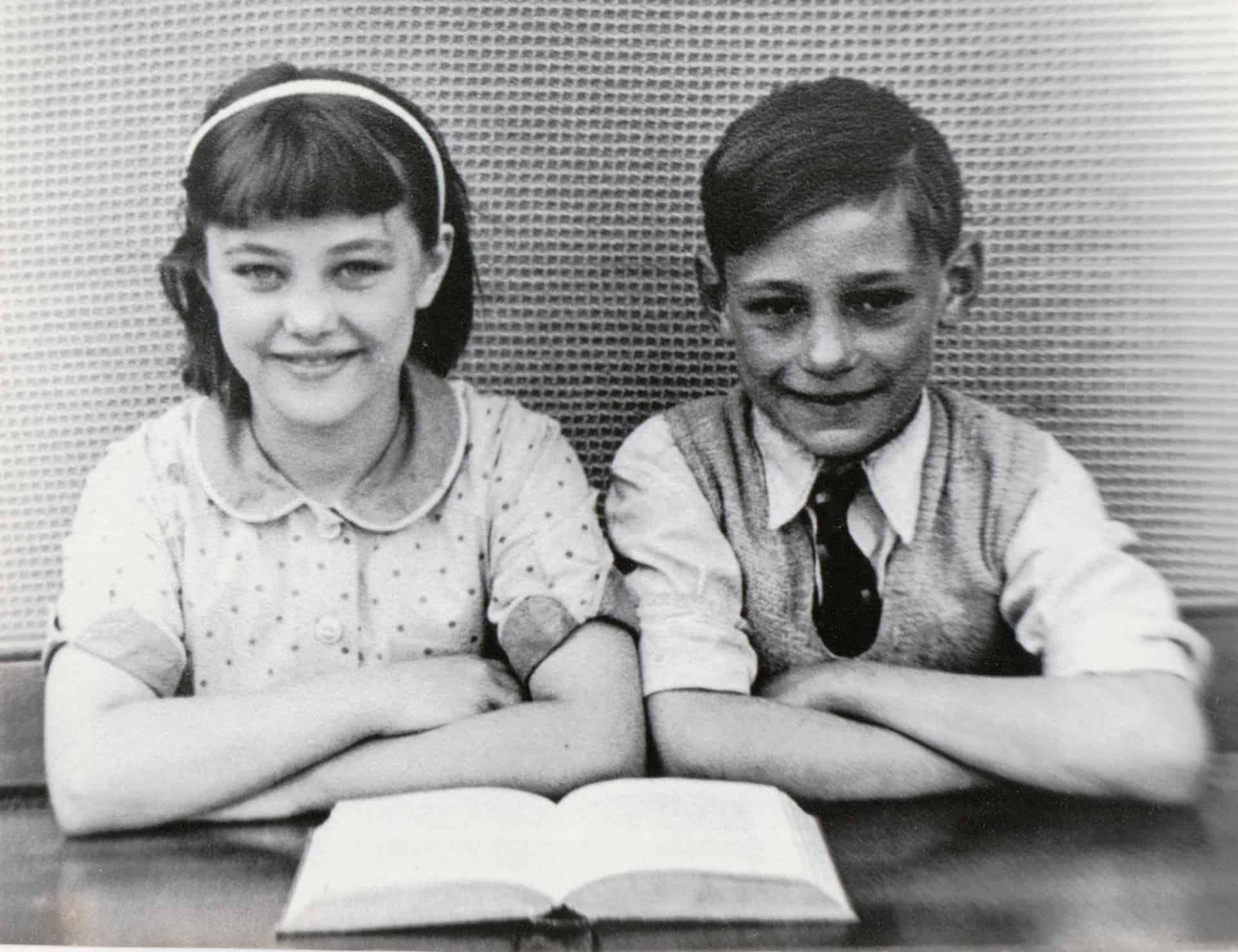 This is a school photo of my dad Peter Offley and his sister Margaret. It was at Rounds Green School.
