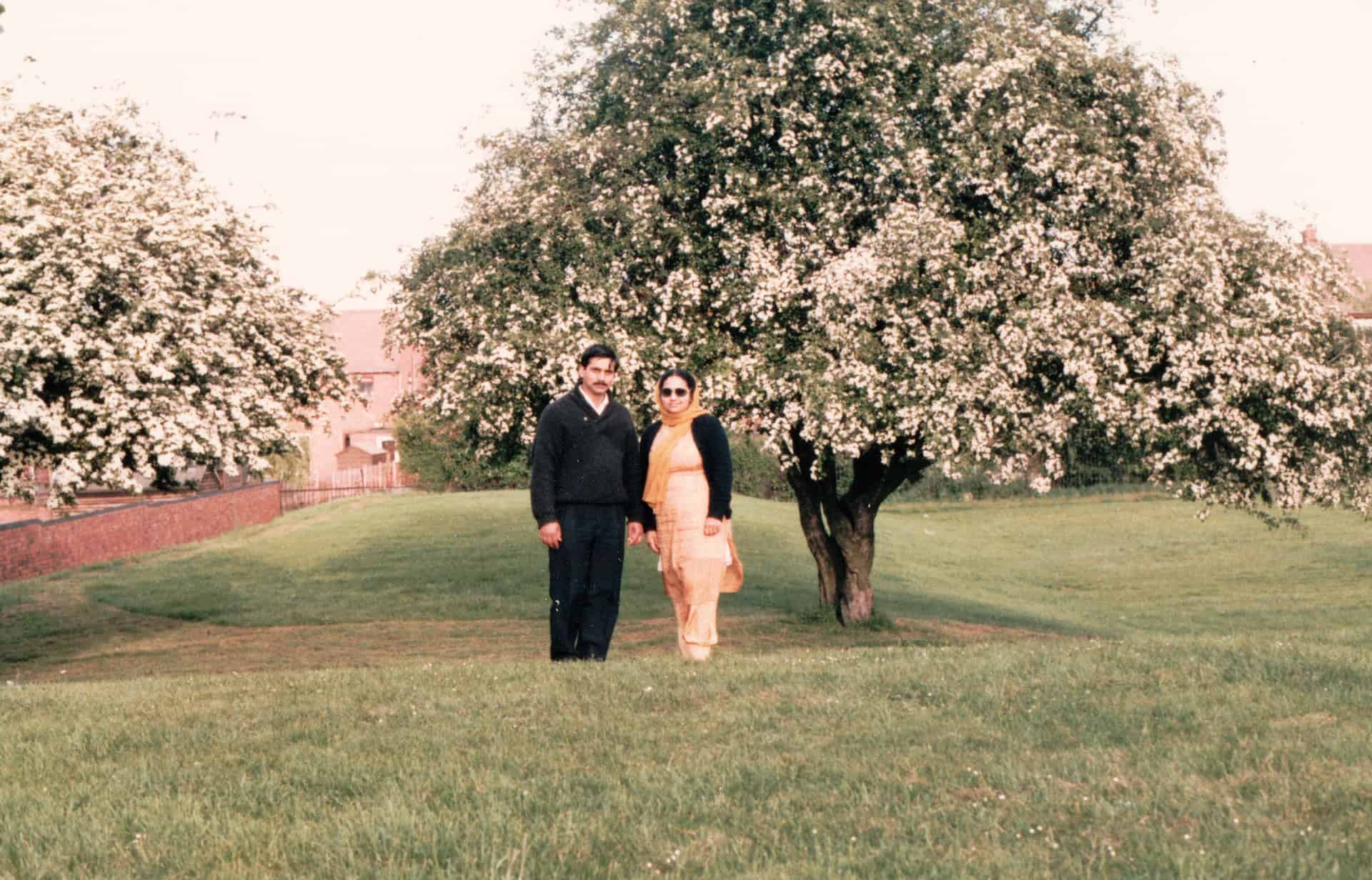 That was me and my husband on the second day of our marriage. We are out for a walk  in Tividale Park.