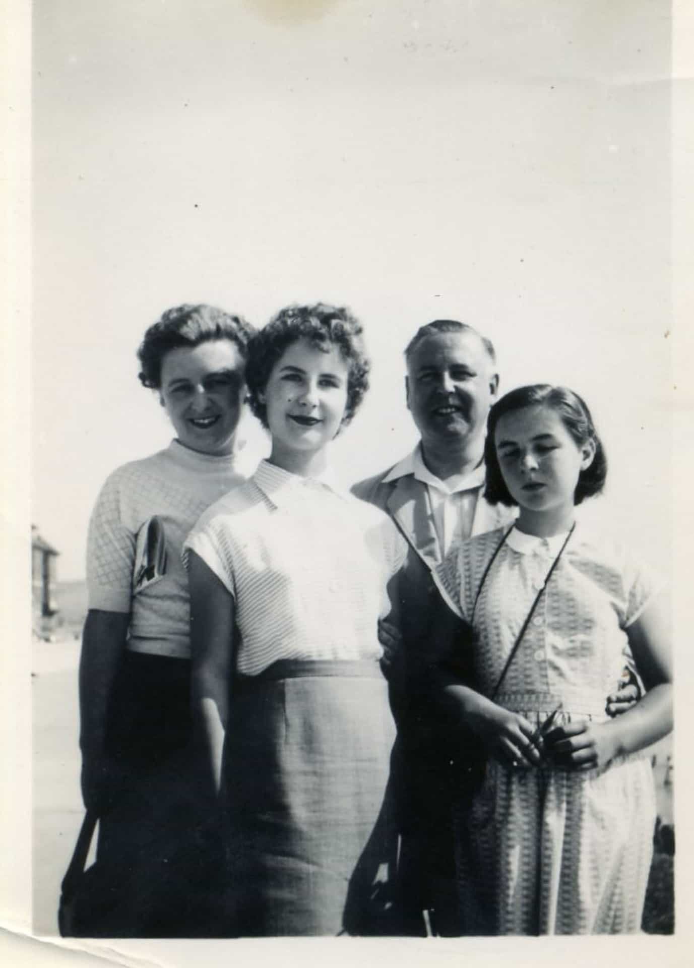 Left to Right: Judith, Isobel, Charles Edward and Jenny Potts, Bournemouth 1956