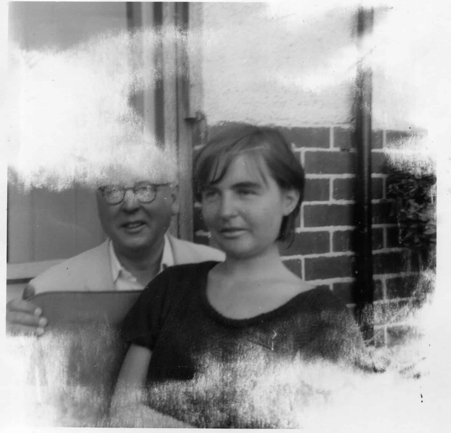 Charles Edward and his daughter Jenny Potts, Ridgacre Road, Quinton, 1965