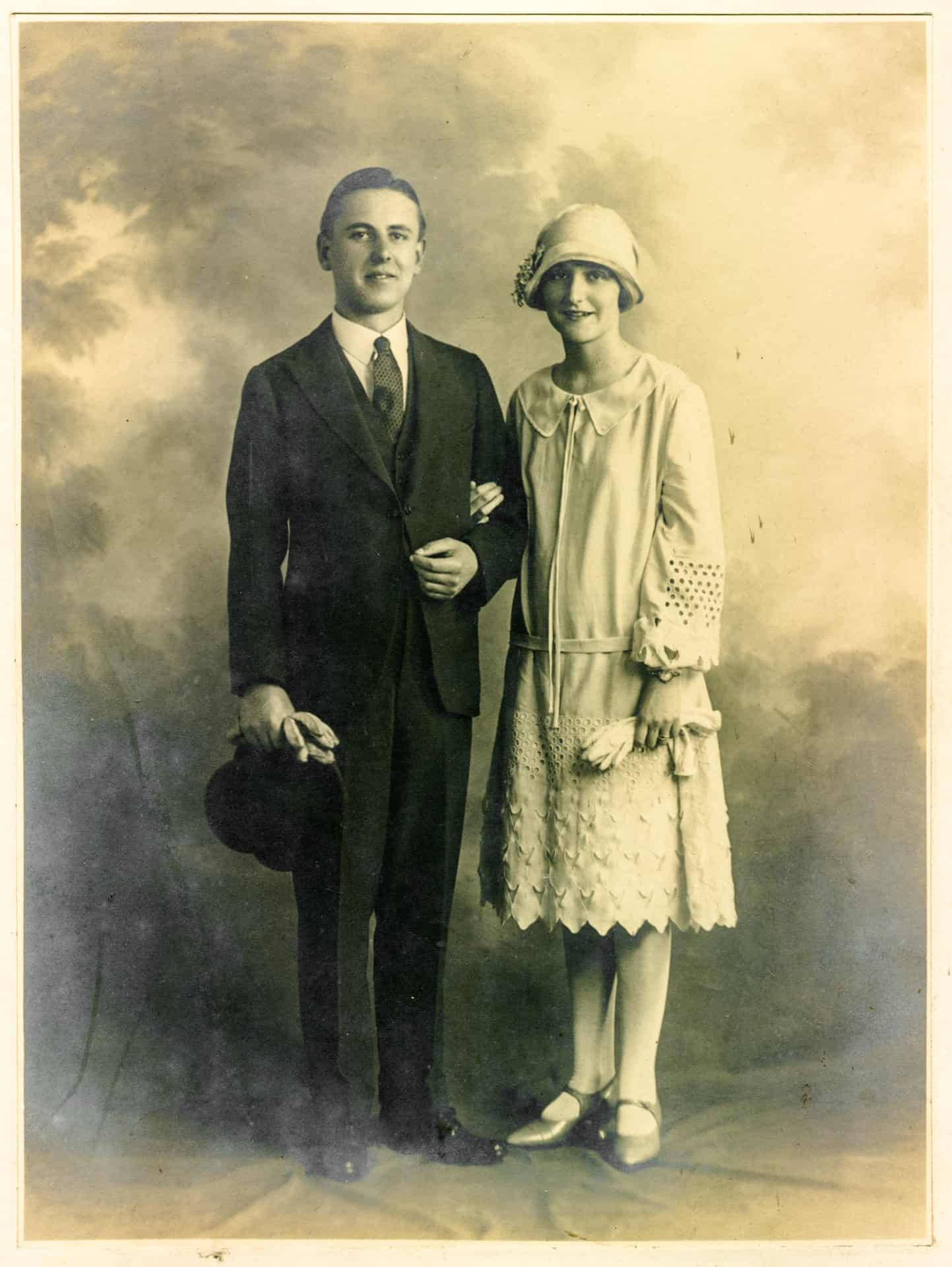 Charles Edward and Marjorie Potts, 1927