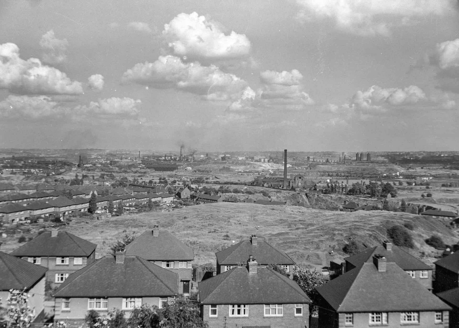 View over Lion Farm and Langley taken from the Rowley Hills, 1950s. From the Jim Rippin collection