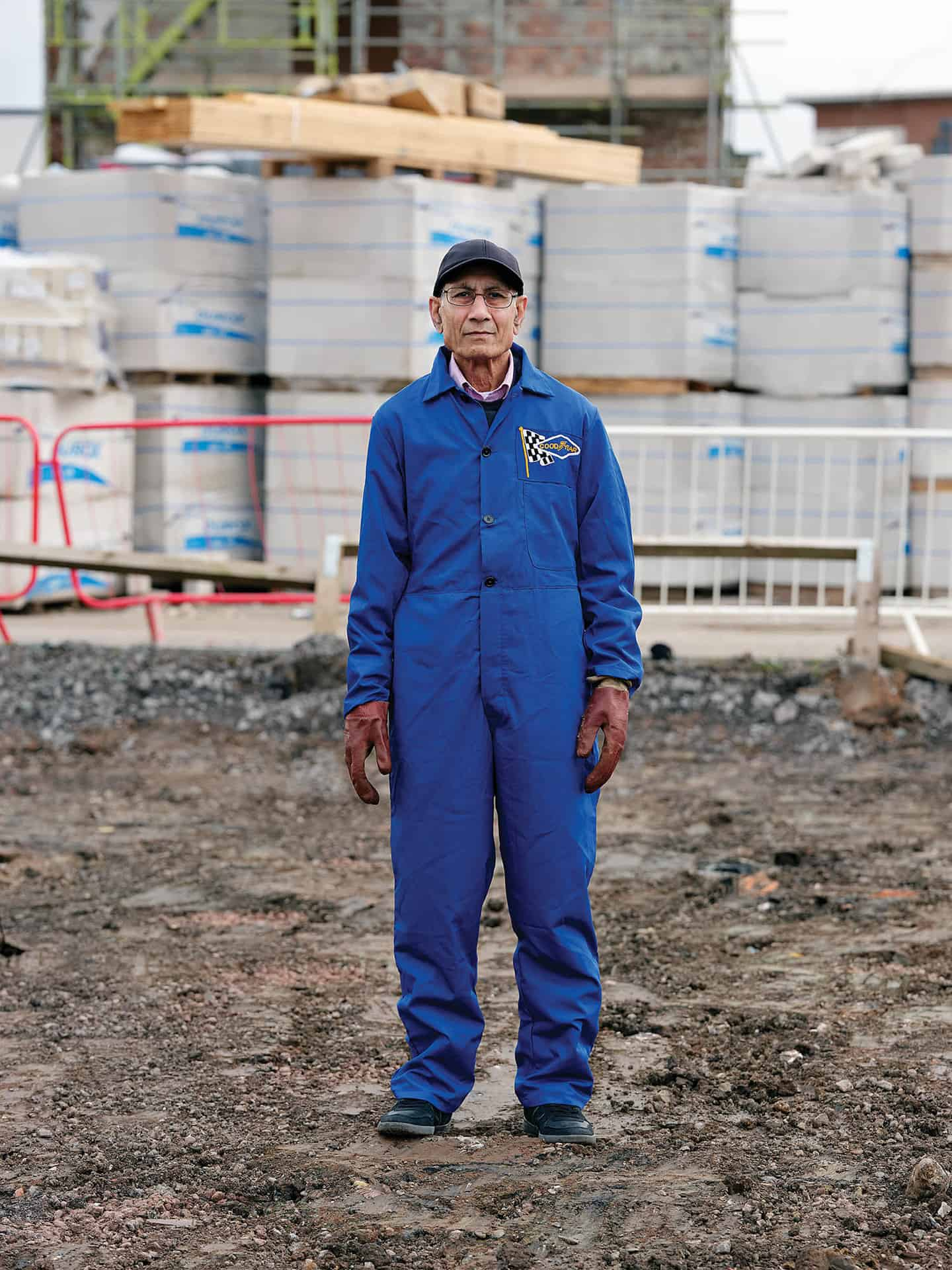 Kharati Ram Verma, stands on the site of the former Goodyear factory, Wolverhampton, March 2020