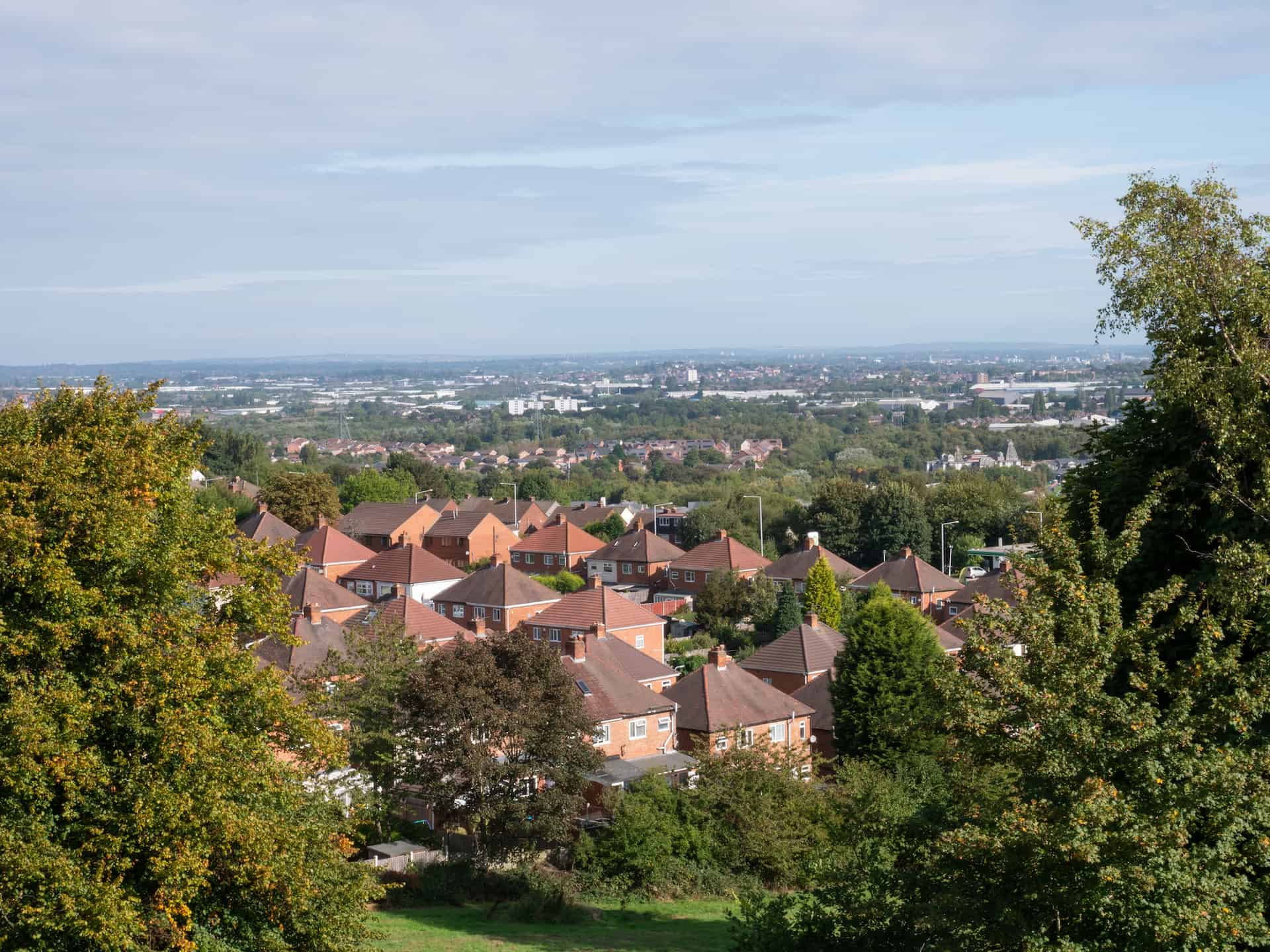 view from Bury Park looking north.