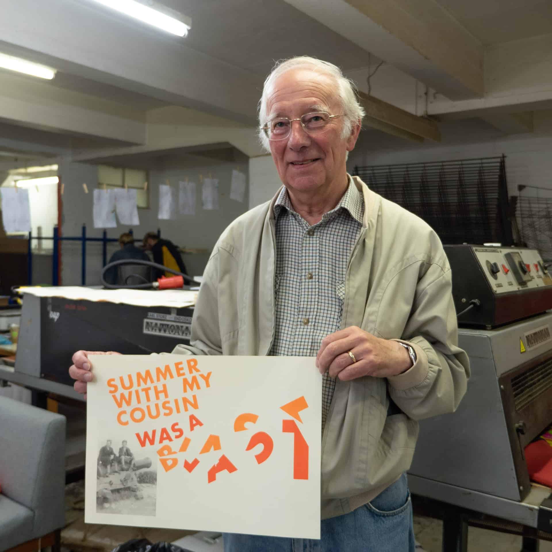 Preparing designs to be printed at Rope Press, Birmingham