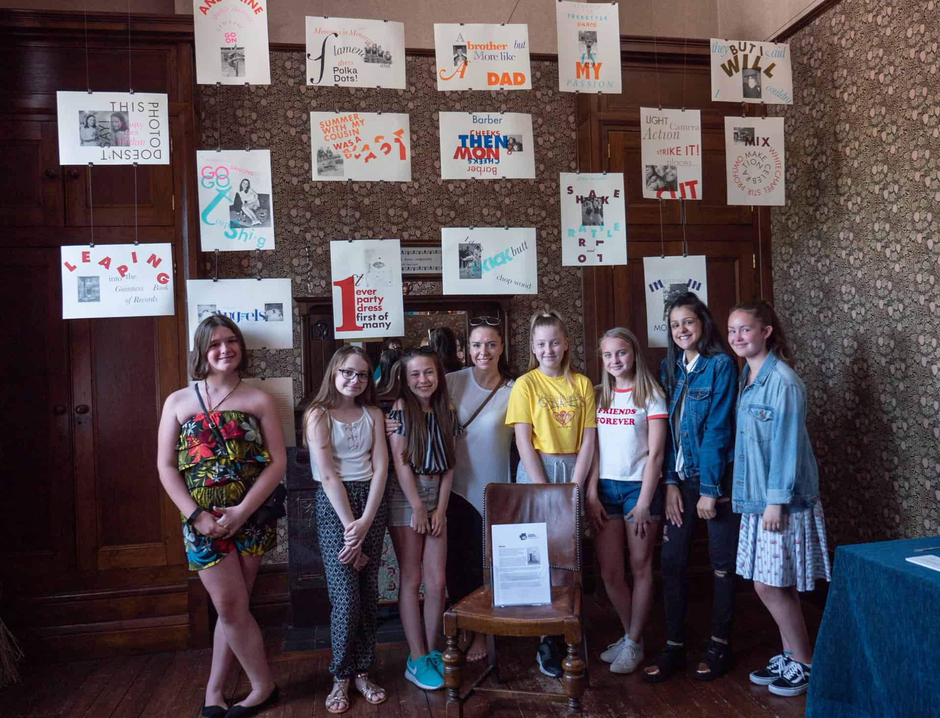 Pupils with their installation at Haden Hill House Museum, June 2018