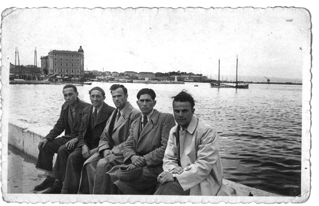 Waiting for the boat to France, Split, Yugoslavia,1940.